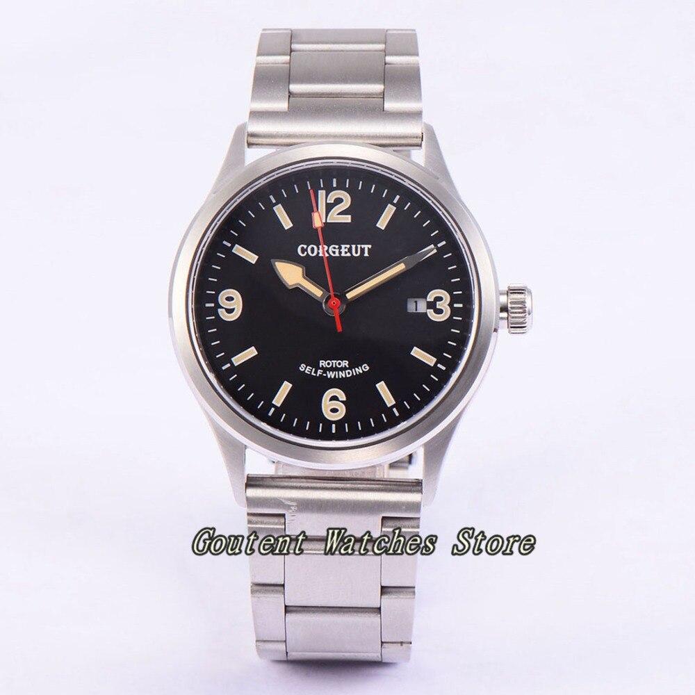 41mm Corgeut Date Sapphire Glass Automatic movement Men s Watch
