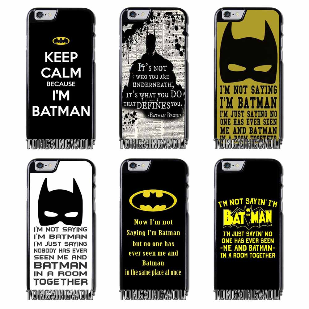 Pics photos batman logo evolution design for samsung galaxy case - I M Not Saying I M Batman Cover Case For Samsung A3 A5 A7