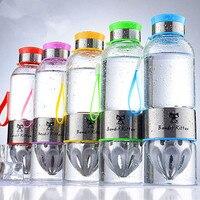 500ml Glass Lemon bottle Creative water kettle Stainless steel juicer High borosilicate glass bottle
