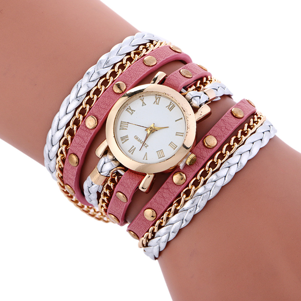 Casual bracelet watches women Wrap Around Fashion Bracelet fashion dress ladies Womans Wrist Watch relojes mujer clock for girls
