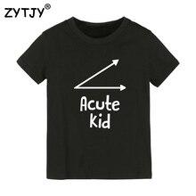 Остроконечная Детская футболка с буквенным принтом Футболка для мальчиков и девочек, детская одежда для малышей Забавные футболки, Прямая поставка, Y-2