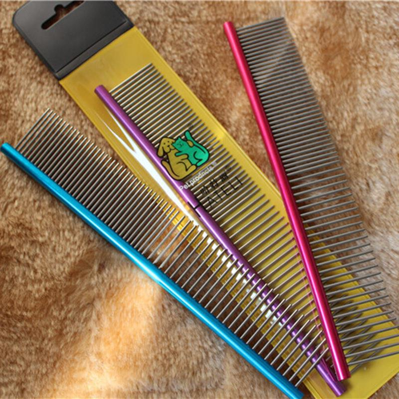 19cm Stainless Steel Pet Dog Grooming Combs Long Thick Hair Fur Removal Brush Pets Dog Cat Grooming Combs