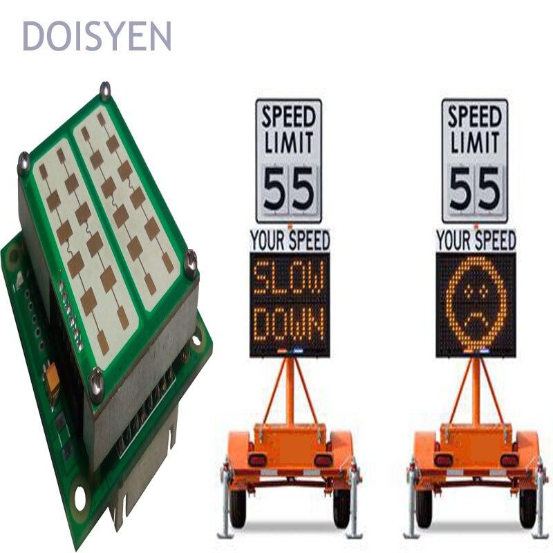 Скорость шоссе предупреждающие знаки автомобиль монитор 24 ГГц радар Датчик