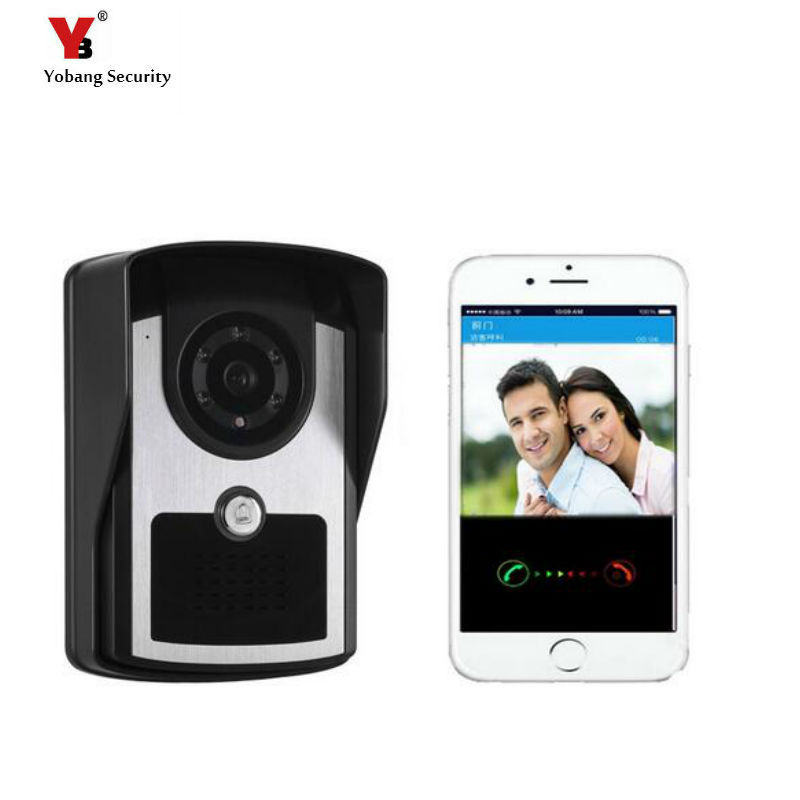 Yobang Security WiFi Doorbell with Camera Video Doorbell infrared night vision function Door intercom Support IOS Android APP