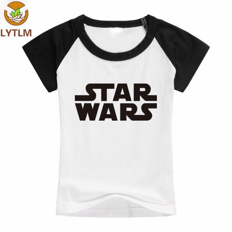 LYTLM Toddler Boys T Shirts Summer 2018 Star Wars Tshirt Junge O-neck Cotton Funny Toddler Shirts Cartoon T Shirt Baby Boy Girls