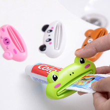 1 piezas multicolor Animal lindo multifunción portátil de plástico exprimidor de pasta de baño cepillo de dientes titular baño conjuntos de artículos para el hogar
