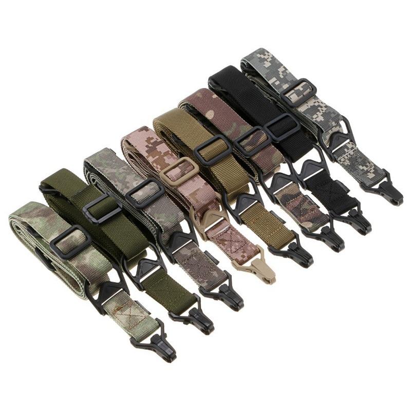 Multi-functional Adjustable Military Tactical Sling Belt Elastic Shoulder Strap