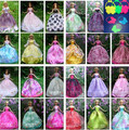 Free Shipping,New Arrival 12pcs/lot Party Doll's Dress+bags Clothes Gown For Barbie doll