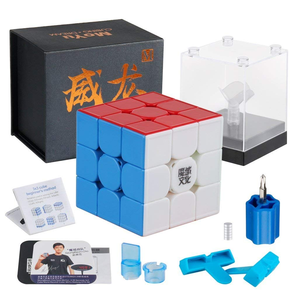D-fantix MoYu WeiLong GTS3 M 3x3 vitesse Cube magnétique Moyu Weilong GTS V3 M sans autocollant 3x3x3 Cube magique Puzzle