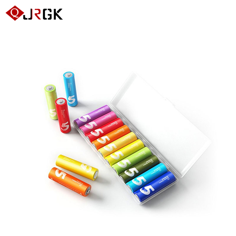 10PCS/Lot For Xiaomi ZMI ZI5 AA lkaline Battery for Camera Mouse Keyboard Controller Toys Rainbow Disposable Batteries Kit