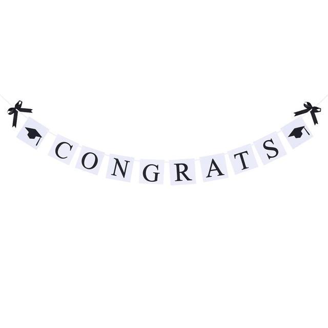 aliexpress com buy 3m graduation decorative bunting banner