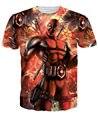 2016 Chegam Novas Fodão Americano de Quadrinhos Deadpool T-Shirt T-shirt Dos Homens Personagens de Desenhos Animados das mulheres t 3d camisa Engraçada de t camisas Casuais topos
