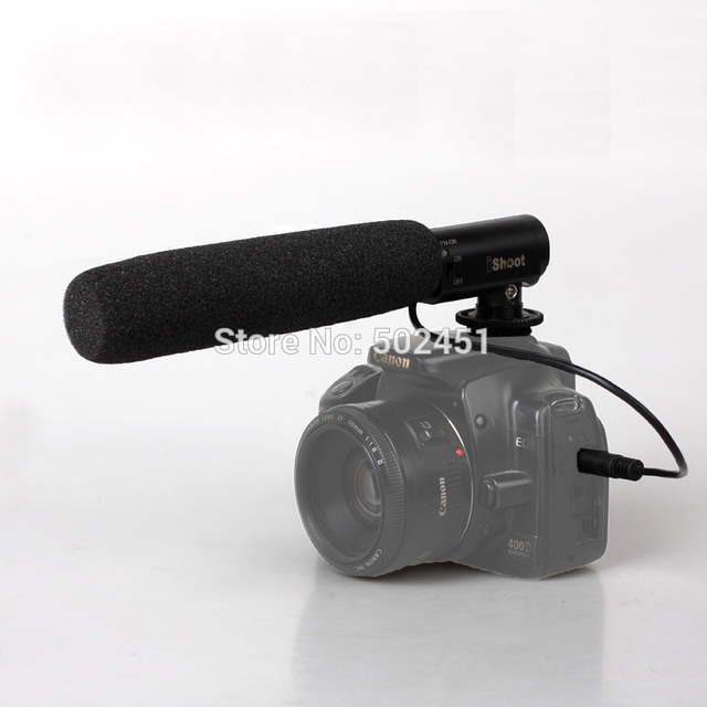 DC/DV Microphone MIC for Camera Nikon D7100 D7000 D5200 D5100 D3200 D3100 D800+Tracking Number Free Shipping