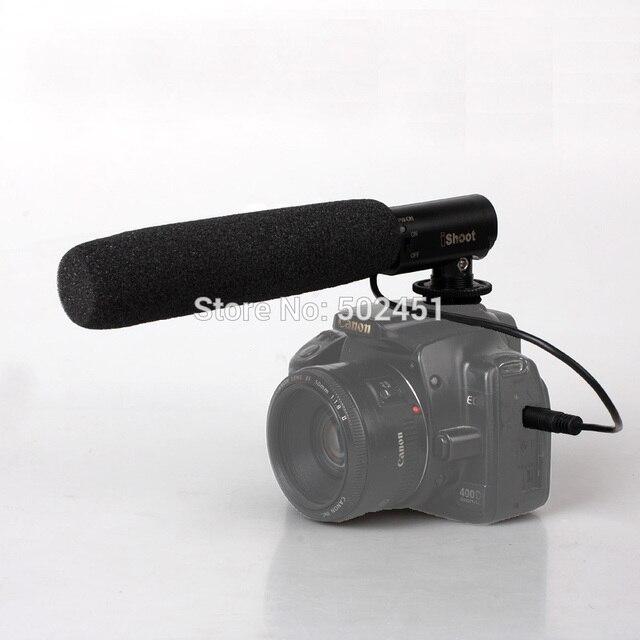 Dc / DV микрофон микрофон для камеры Nikon D7100 D7000 D5200 D5100 D3200 D3100 D800 + номер для отслеживания бесплатная доставка