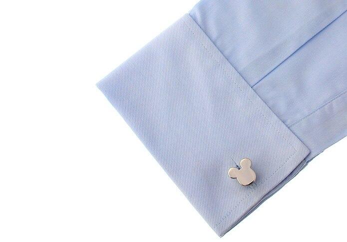 Ücretsiz Kargo Yenilik Mickey Tasarım Kol Düğmeleri Bakır - Kostüm mücevherat - Fotoğraf 4