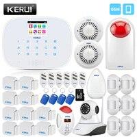 KERUI Wireless Home Security Alarm System Mini Motion Detector Door Sensor CO Detector Smoke Alarm