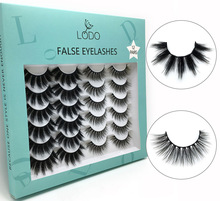 New 12 Pairs Faux 3D Mink Lashes Natural Long False Eyelashes Dramatic Volume Fake Lashes Makeup Extension Eyelashes