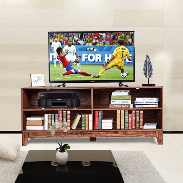 Goplus 58 Modern Wood Tv Stand Console Storage Entertainment Media Center Living Room Home Furniture