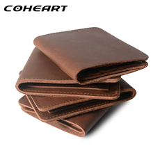 COHEART, брендовый мужской кошелек, натуральная кожа, кошелек crazy horse, кожаный кошелек, мужской клатч, высокое качество, гарантия