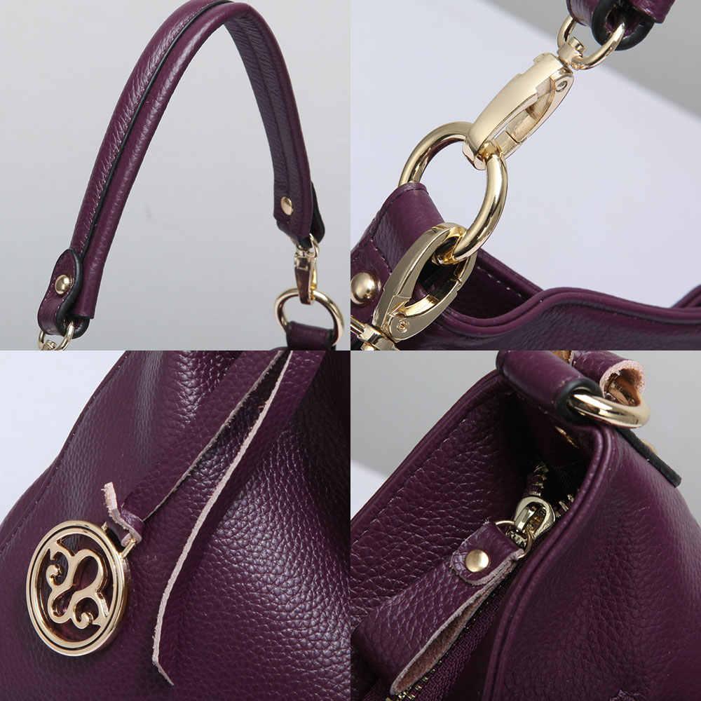 Zency 5 цветов Новое поступление 100% натуральная кожа модная женская сумка высокого качества Женская сумка через плечо серый