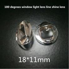 4 шт. u-образный оконный светильник линза светящаяся линза светодиодный Автомобильная Поворотная фара линза горизонтальная линза отражающая Крышка 18x11 мм 18*11 мм
