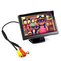 HD 5inch TFT LCD Screen Car Monitor New Hot Sale Full Display With 2AV Input Rearview