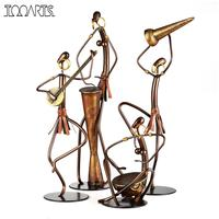 Tooarts 4 Kinds Tribe Style Iron Figurine Home Decoration Crafts Metal Animal Figurine Handicraft For Home Office