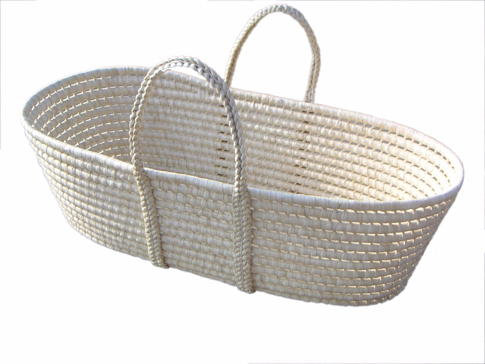 info pour 31f3a 6436a Baby Cribs Bedding Mother & Kids Natural corn husk baby basket weaving baby  lounger 83*46*25/21CM portable NAF baby bassinet