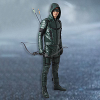 Manles DC Oliver Queen Cosplay Costume Green Arrow Season 5 Cosplay Clothing Superhero Outfit Halloween Party
