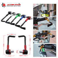 Alconstar 22mm Adjustable Brake Clutch Levers Protector Brush Motorcycle Proguard System Guard CNC Protect Guard For