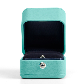 Fanxi Wedding Ring Box Blue PU Leather Jewelry Necklace Packaging Box Jewelry Box Gift Box Packaging Ring Organizer large leather gift box for jewellery wedding party decoration display velvet organizer earing necklace ring packaging pink box
