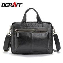 OGRAFF Hommes messenger sac en cuir véritable sac hommes bandoulière sacs à main porte-documents grande capacité vintage hommes d'affaires sac