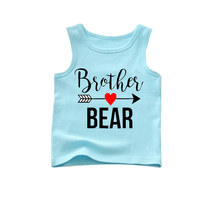 aqua blue boy tank costume brother bear tank 95% cotton 5percentspandex summer season tank costume