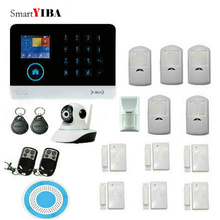 SmartYIBA Android IOS App Wireless GSM Home Alarm System SIM Smart Home Burglar Security wifi IP HD camera Alarm System