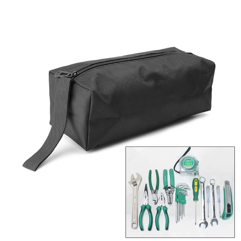 Universal Oxford Canvas Tool Bag Zipper Hardware Storage Toolkit Travel Makeup Hand Pouch -hol
