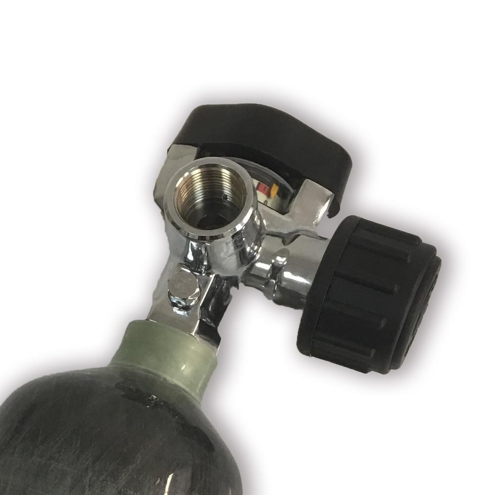 AC921 Hot Sale 30Mpa 4500psi SCBA Cylinder Valve Carbon Fiber Tank Compressed Air Cylinder Bottle Valve With Big Gauge-V