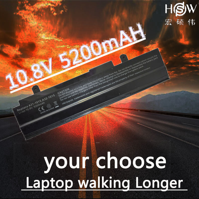 HSW 5200mAh Battery for ASUS Eee PC <font><b>1015</b></font> 1015B 1015P 1011 1016 1215 R011 R051 A31-<font><b>1015</b></font> <font><b>A32</b></font>-<font><b>1015</b></font> AL31-<font><b>1015</b></font> PL32-<font><b>1015</b></font> bateria akku image