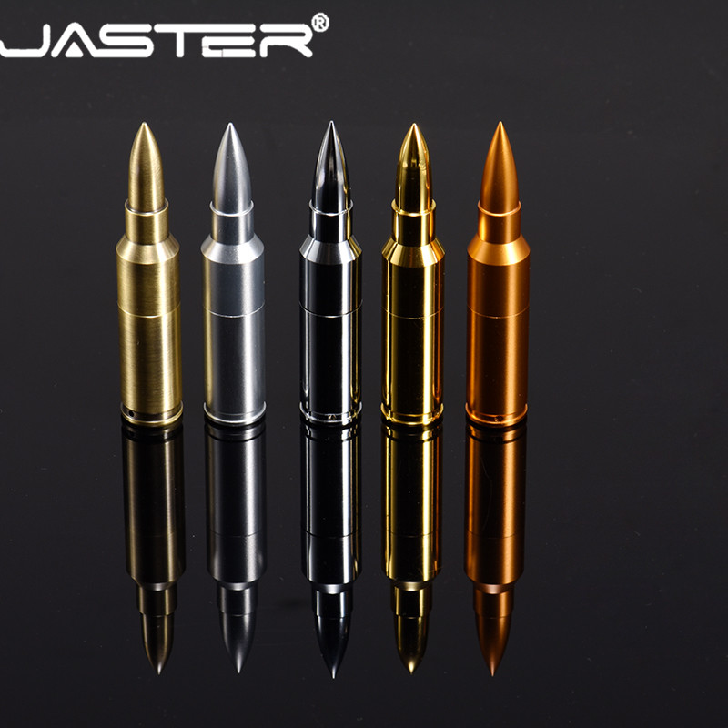 JASTER Metal Pen Drive Bullet USB Flash Drive 4G 8G 16GB 32GB 64GB  USB 2.0 Disk Flash Memory Stick With Key Chain Free Shipping