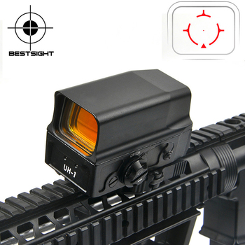 UH-1 Optical Holographic Sight Red Dot Sight Reflex sight with USB Charge for 20mm Mount Airsoft Hunting Rifle