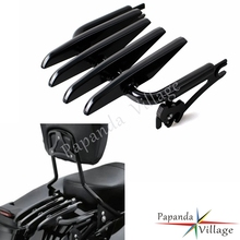 Black Motorcycles Detachable Stealth Luggage Rack for Harley Touring Road King Street Electra Glide FLHR FLHX FLHT FLTR 09-15 detachable stealth luggage rack for harley touring electra glide road king street glide touring 2009 2016 motorcycle