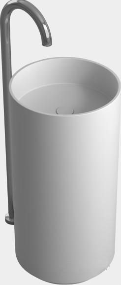 bathroom round pedestal freestanding vessel wash sink solid surface stone wash basin rs38374