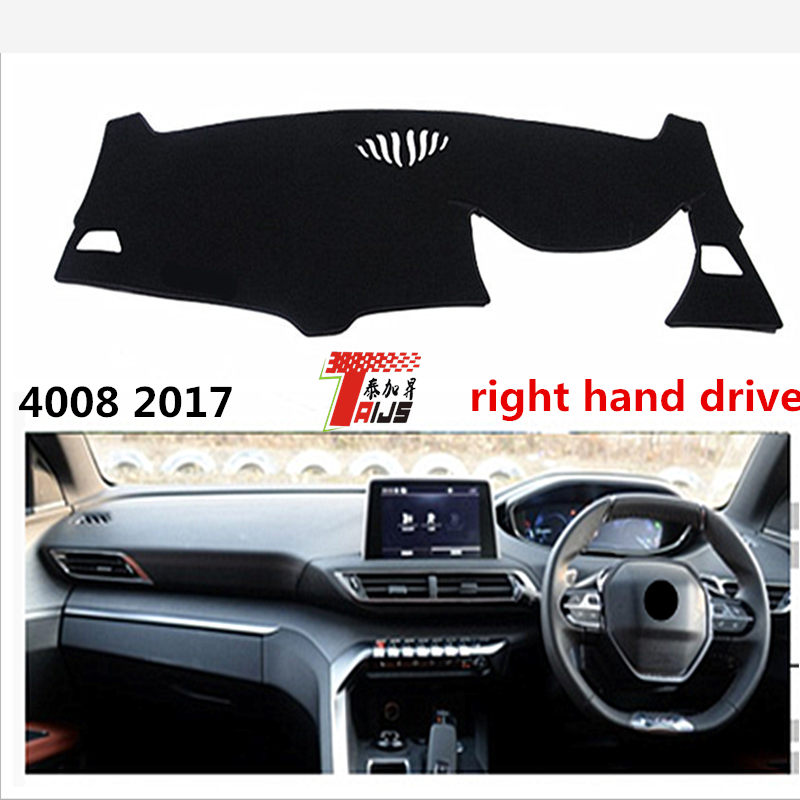 TAIJS Right hand drive car dashboard Pad for Peugeot 4008 2017 sunscreen Pad for Peugeo