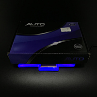 4D Badge Light Blue Rear Trunk Emblem Logo Light 12V Led Atmosphere Lamp Car Styling Accessories