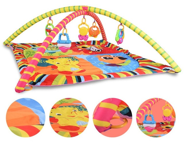36c5c825032 Free Shipping Baby Activity Play Mat Baby Gym Educational Fitness Frame  Multi-bracket Baby Toys Game Mats