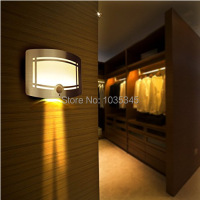 12 LED Aluminum Case Wireless Stick Motion Sensor Activated Battery Operated Wall Sconce Spot Lights