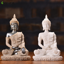Sandstone Resin Crafts Small Buddha Decoration Sculpture Home Decorations Gift Accessories
