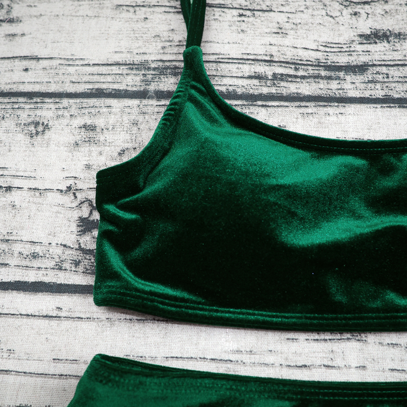 Sexy Brazilian Bikini 17 Blue Velvet Swimwear Women Swimsuit Push up Biquini Halter Bikinis Set Bathing Suit Maillot De Bain 21