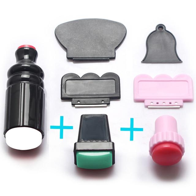 7 Pcs DIY Nail Stamp Kit Makeup Nail Art Image Stamping Plates ...