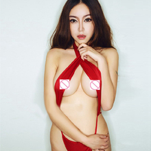 Women Sexy Erotic Outfits Women Sexy Uniform Red Siamese Bandage Lingerie Nightclub Sex Set Exotic