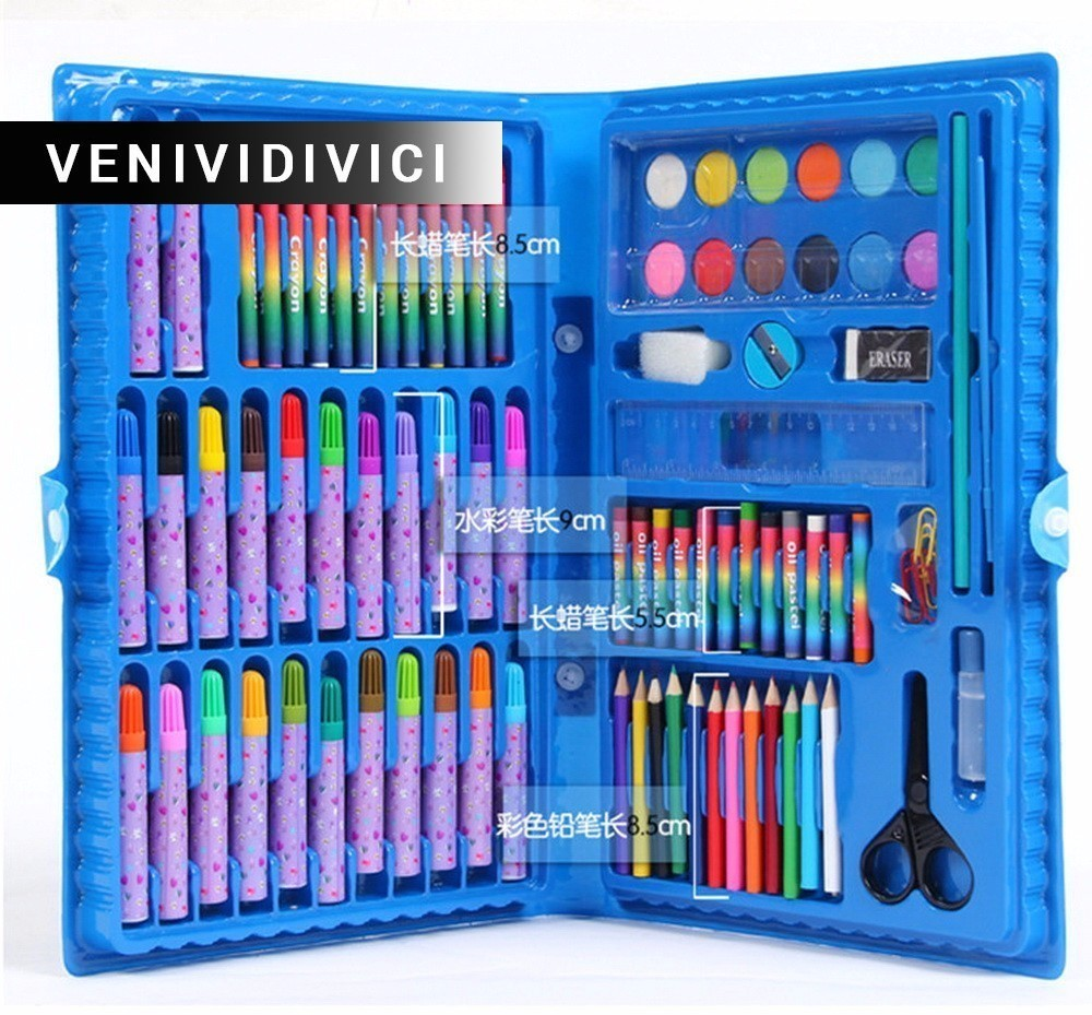 deli child puzzle stationery gift set toy paint brush crayon watercolor pen primary school students gift supplies On SaleDeli Child puzzle stationery set toy paint brush crayon watercolor pen school students gift supplies drawing pencil kit